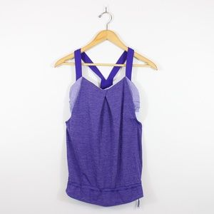 Lululemon Restless Tank Top with Bra Purple Size 4